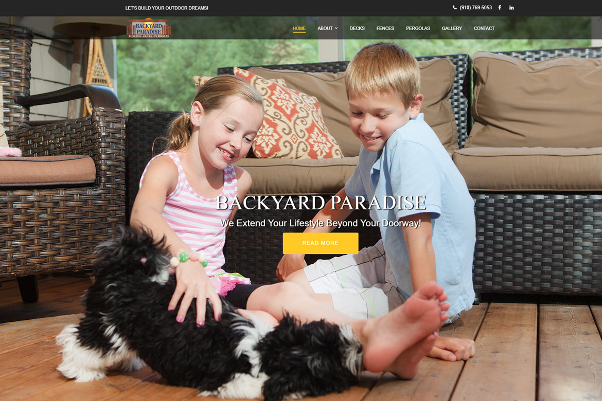 Backyard Paradise Wilmington NC Deck, Fence and Pergola design & building Company